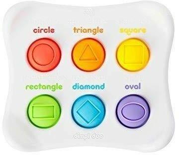 Fat Brain Toys Fat Brain Toys - Sensoryczne Bąbelki kształty i kolory Dimpl Duet