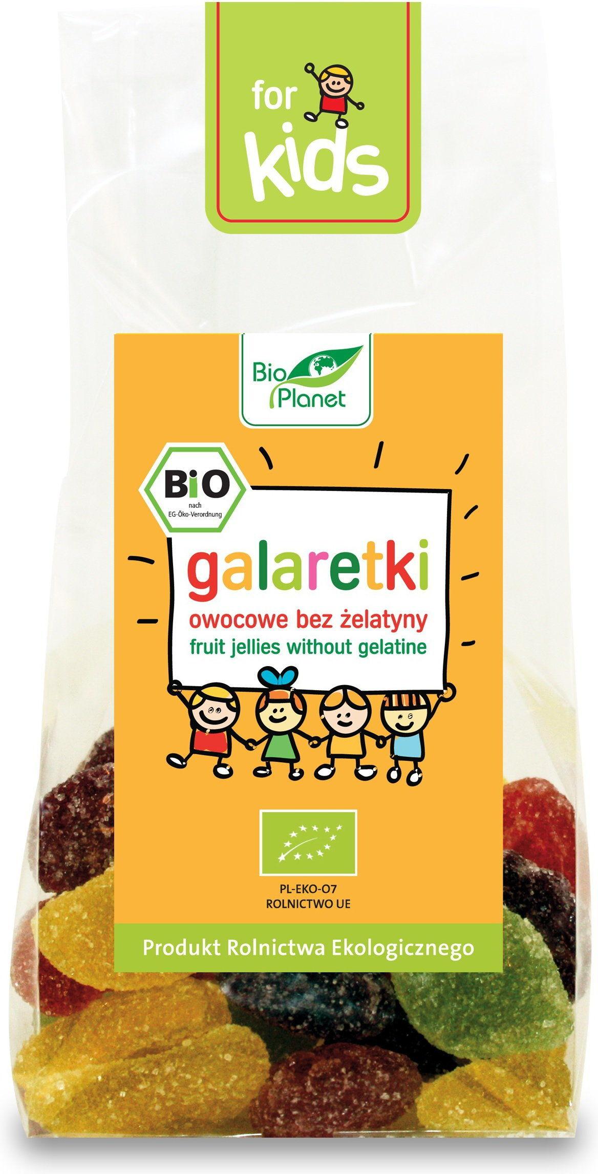 Galaretki owocowe bez żelatyny BIO 100g Bio Planet
