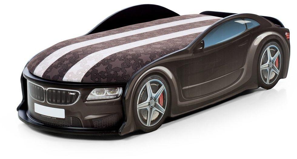Łóżko UNO BETA 183X76 czarne samochód