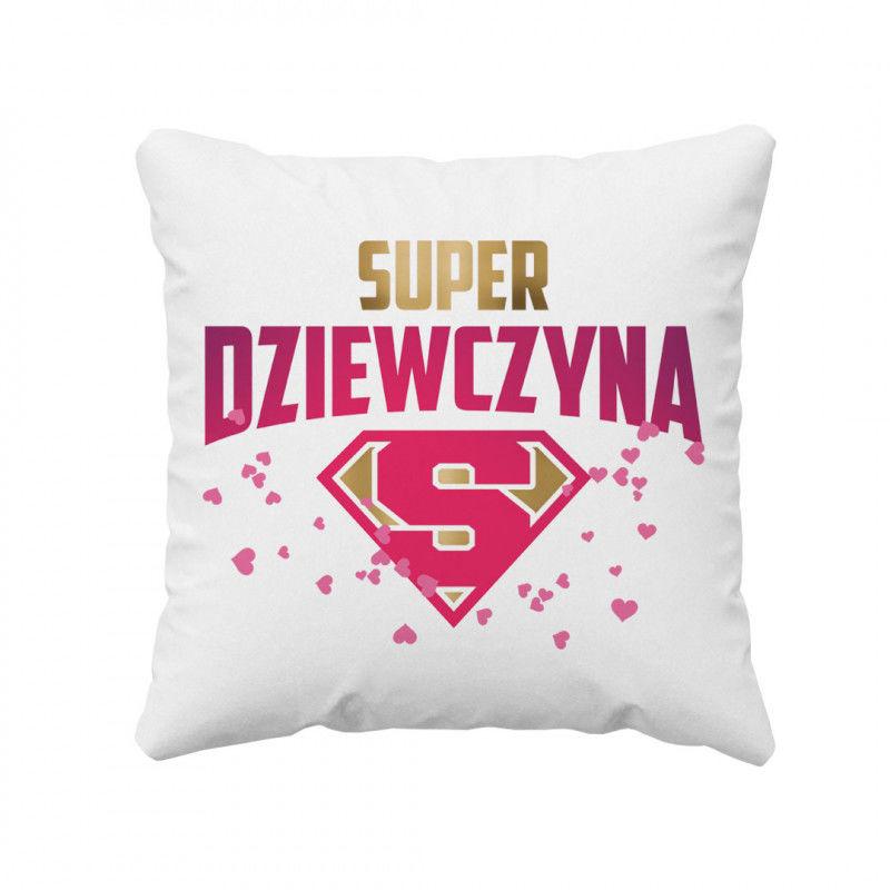 Super dziewczyna - poduszka z nadrukiem