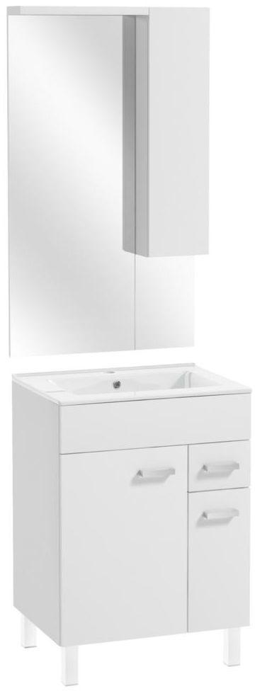 Zestaw szafka z umywalką i lustrem 60 POINT DEFTRANS
