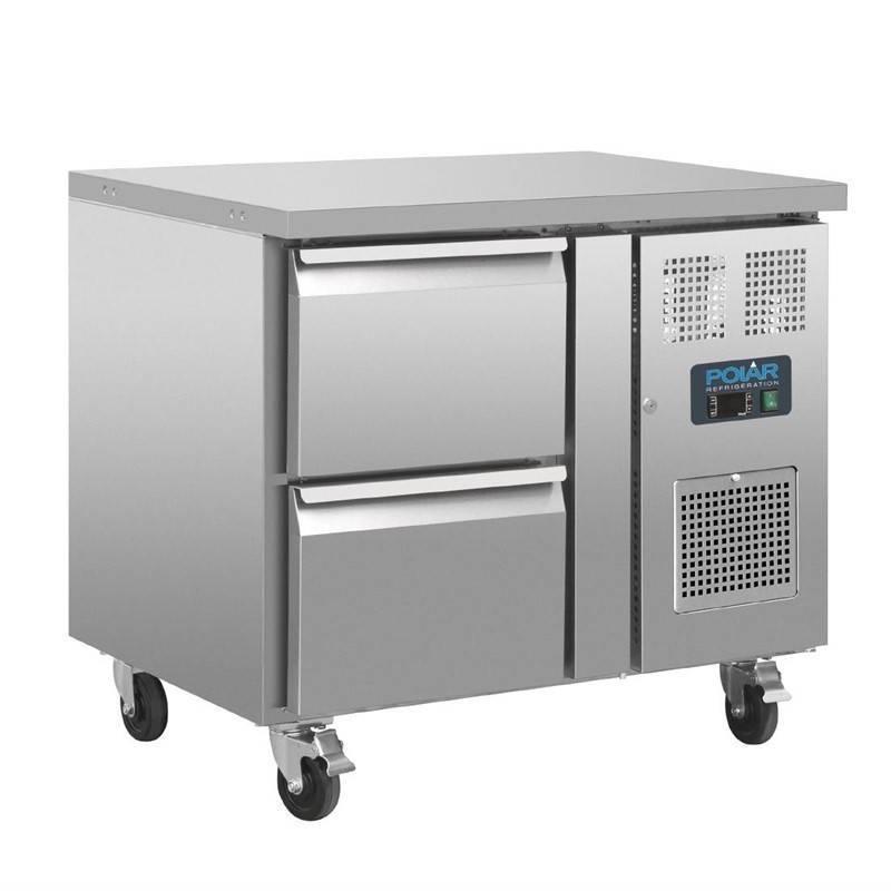 Stół chłodniczy 2 szuflady 124L -2 C do 8 C R600a 92,5x70x(H)86cm