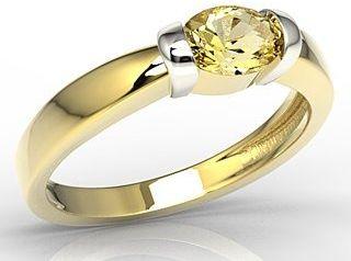Pierścionek z żółtego i białego złota z cytrynem ap-67zb-cyt
