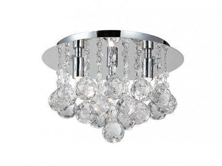 Plafon Bolla 25 AZ1285 AZzardo kryształowa oprawa w nowoczesnym stylu