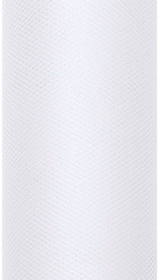 Tiul Dekoracyjny biały 80cm x 9m 1 rolka TIU80-008