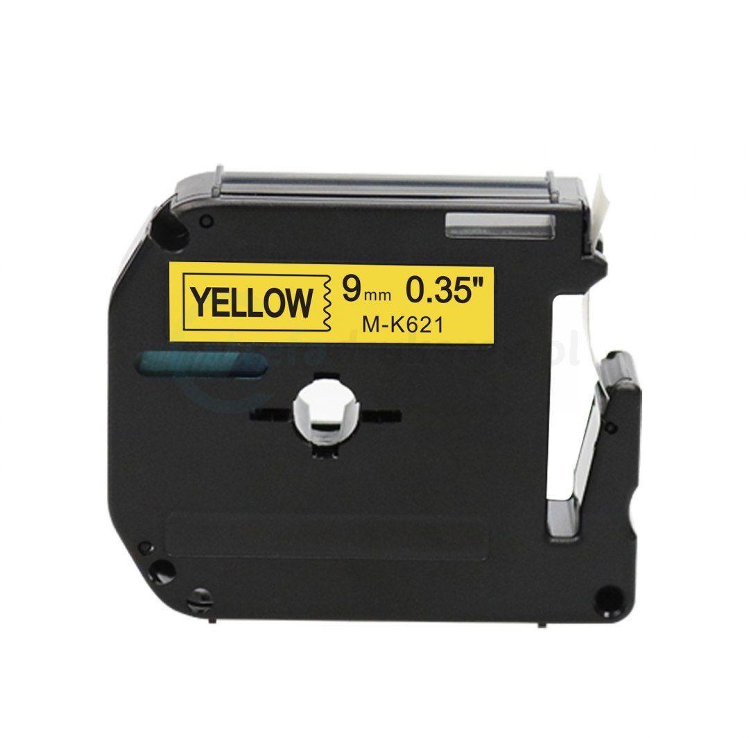 Taśma Brother M-K621 żółta 9mm x 8m M-tape nielaminowana - zamiennik OSZCZĘDZAJ DO 80% - ZADZWOŃ! 730811399