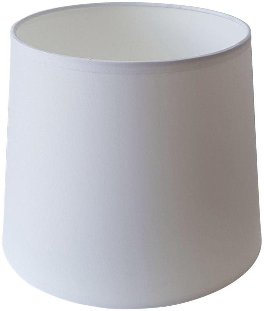 Abażur 9985 owalny 16-14 x 16 cm tkanina biały E27 TK LIGHTING