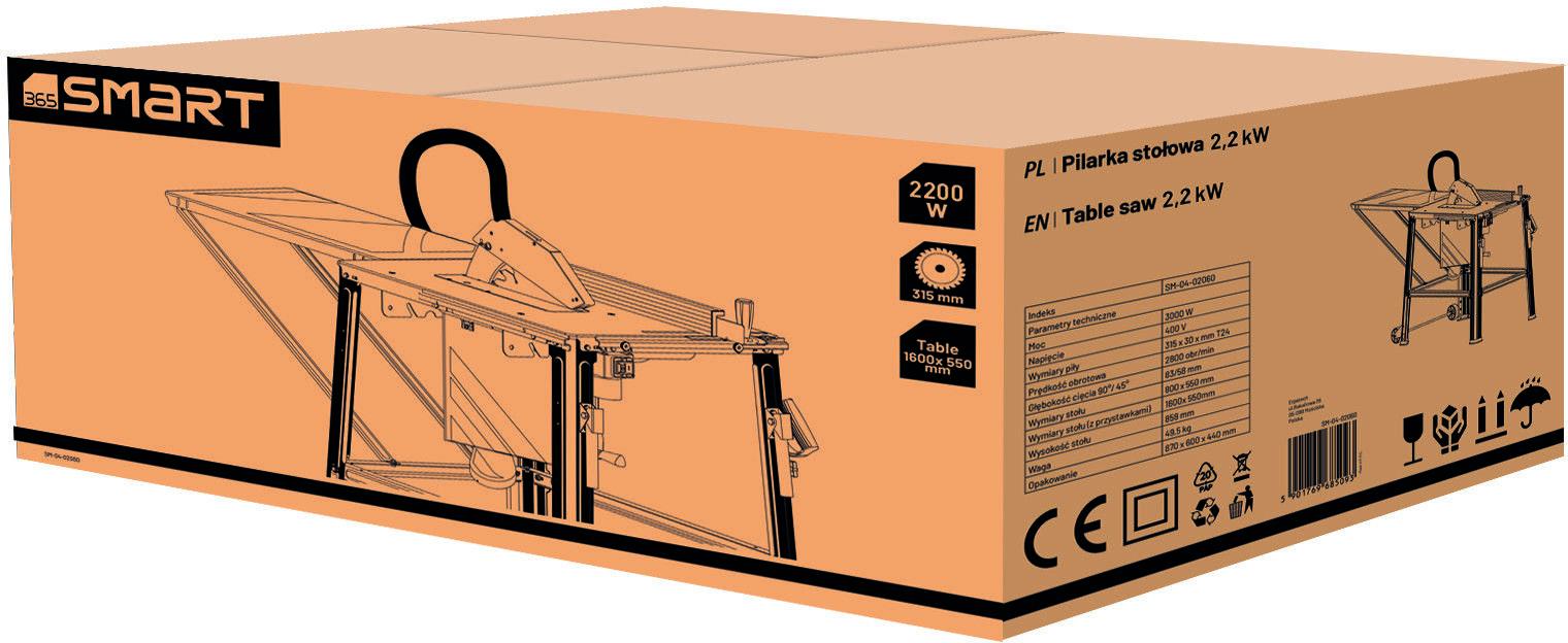 uniwersalna pilarka stołowa 315/30mm, 2200W, 365 SMART [SM-04-02061]