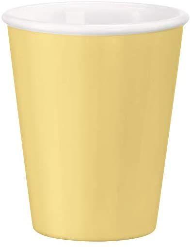 Bormioli Rocco, żółty, Bormioli, aromatektyczna filiżanka do kawy z mlekiem, 21,5 cl