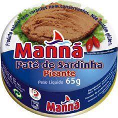 Portugalska pasta z sardynek pikantna 65g Manná