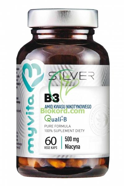 Witamina B3 500 mg (Amid) SILVER PURE 100%, Myvita