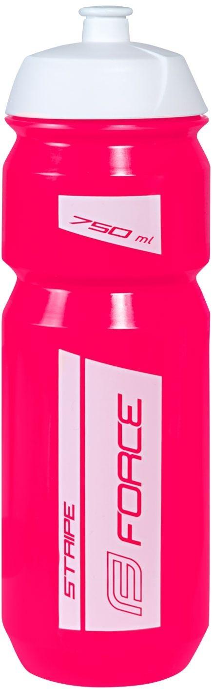 FORCE bidon rowerowy stripe 0,75l różowo-biały 251987,8592627117053