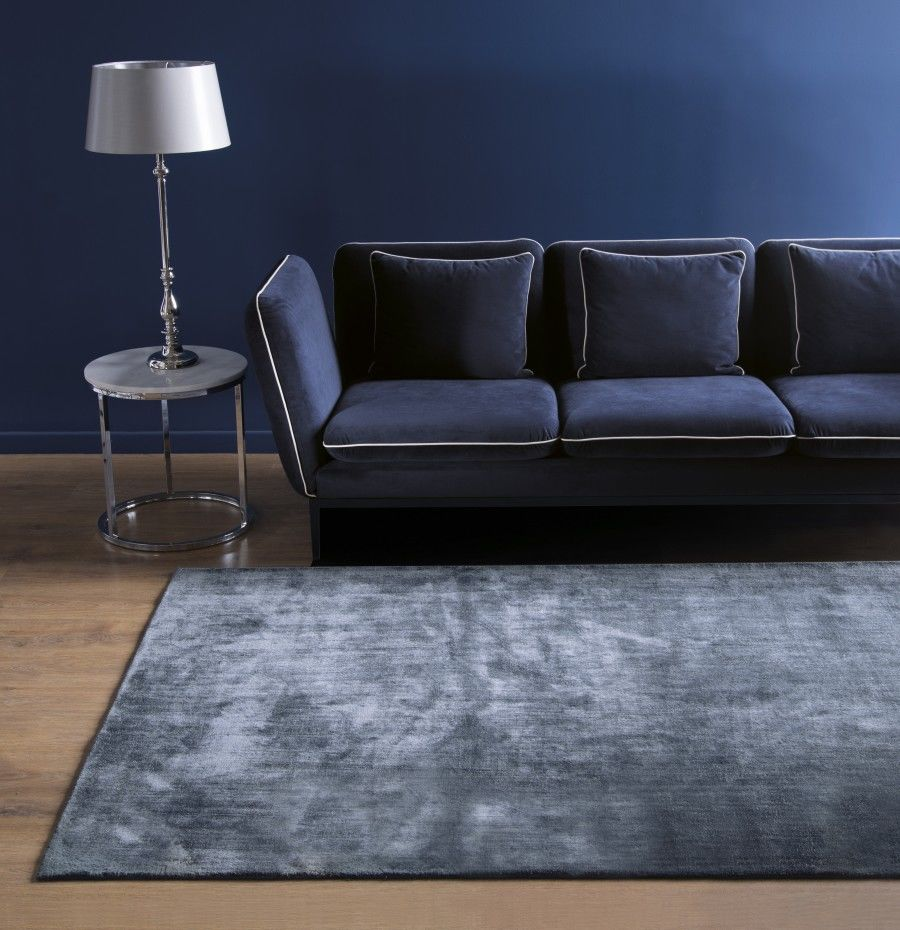 Dywan Handmade Carpet Decor Linen Dark Blue, rękodzieło