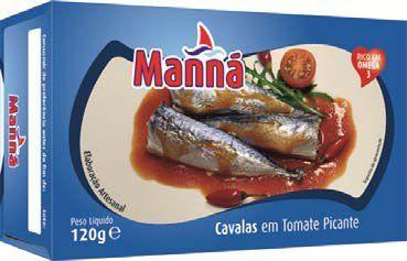 Mini makrele portugalskie cavalinhas pikantne w pomidorach 120g Manná