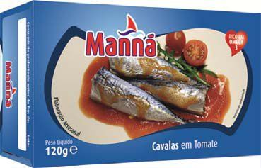 Mini makrele portugalskie cavalinhas w pomidorach 120g Manná