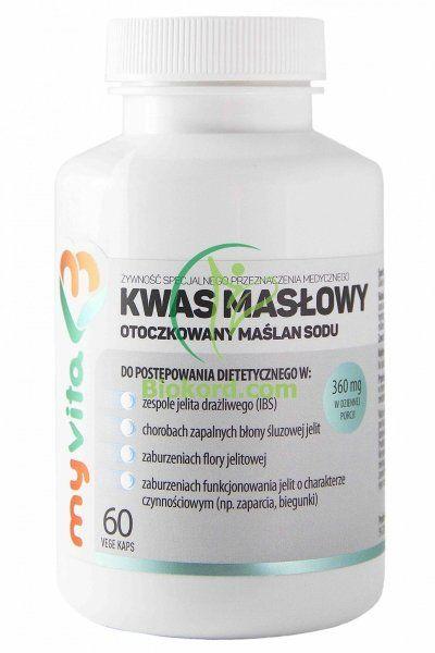 Kwas Masłowy (Maślan Sodu) 360 mg, MyVita, Kapsułki