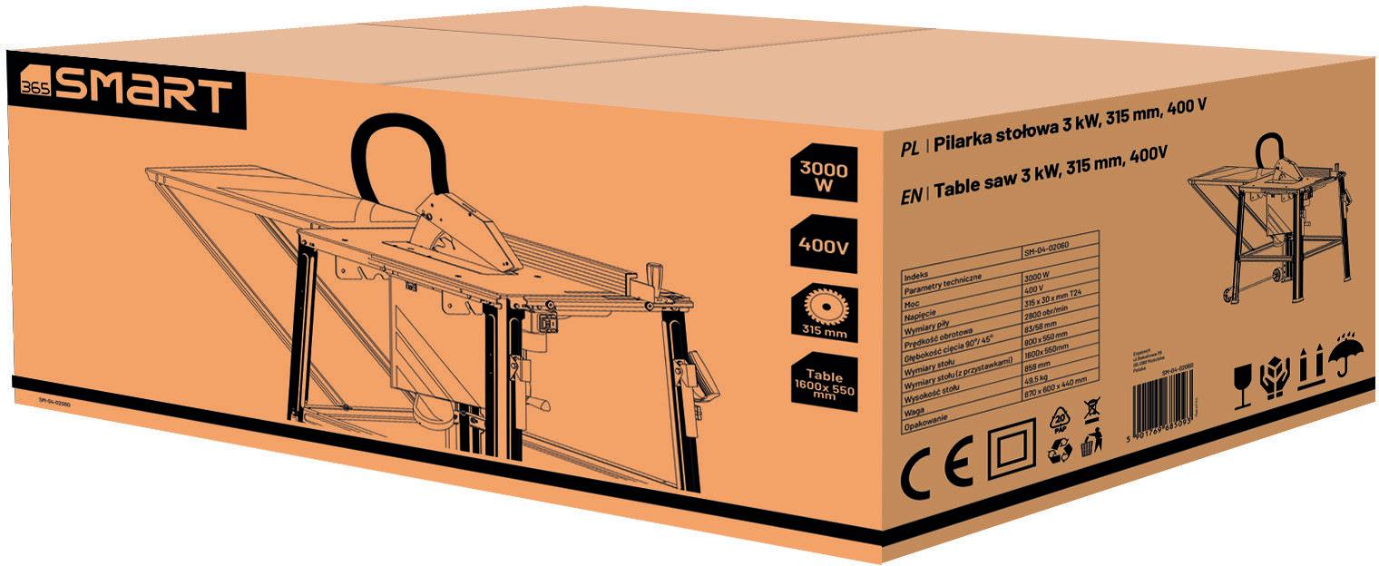 uniwersalna pilarka stołowa 315/30mm, 3000W/400V 365 SMART [SM-04-02060]