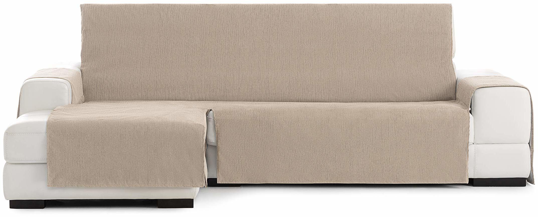 Eysa Loira Protect wodoodporna i oddychająca narzuta na sofę, 65% poliester, 35% bawełna, beżowy, 240 cm