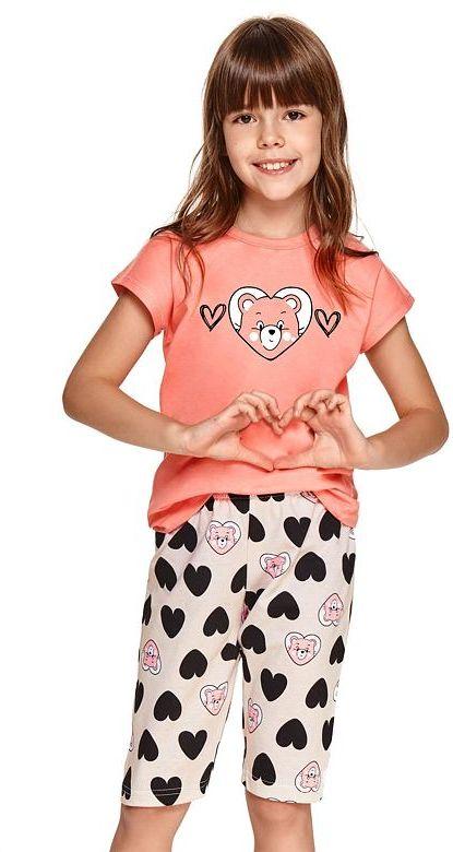 Piżama dziewczęca Amelia różowa
