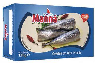 Mini makrele portugalskie cavalinhas pikantne w oleju 120g Manná