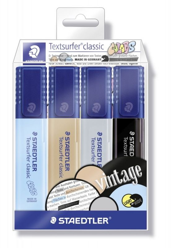 Zakreślacze Classic Vintage Staedtler 4 kolory S364WP4