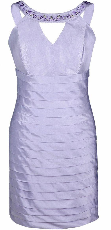 FSU740 Suknie wizytowe Sukienka FIOLETOWY