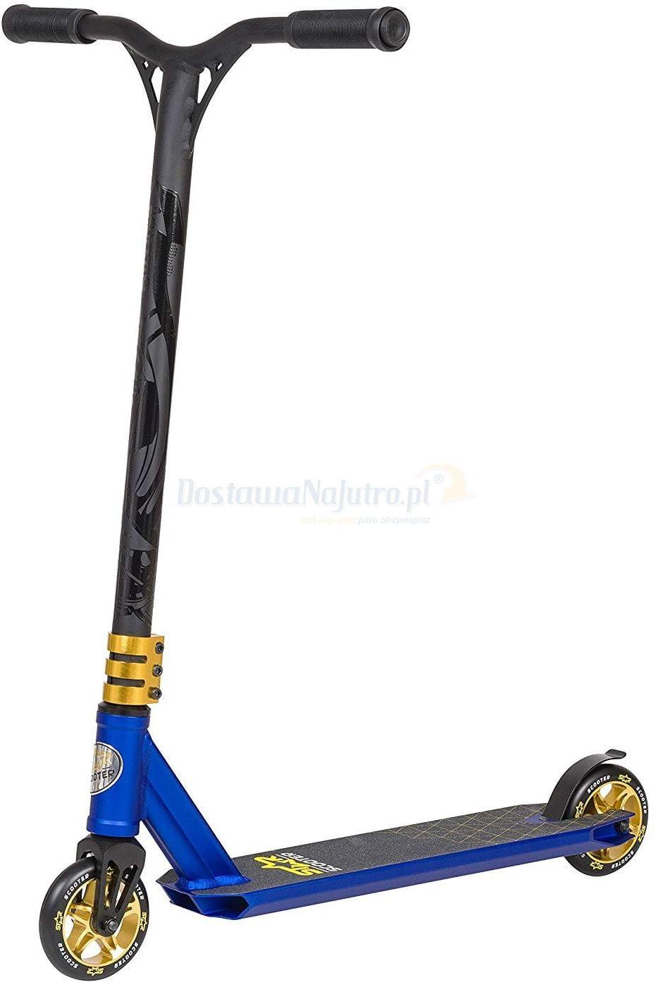 Hulajnoga wyczynowa BikeStar STUNT 110 niebiesko- złota semi - professional