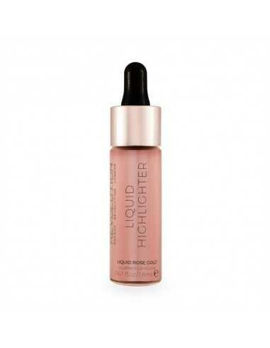 Makeup Revolution Liquid Highlighter Liquid Rose Gold płynny rozświetlacz do twarzy