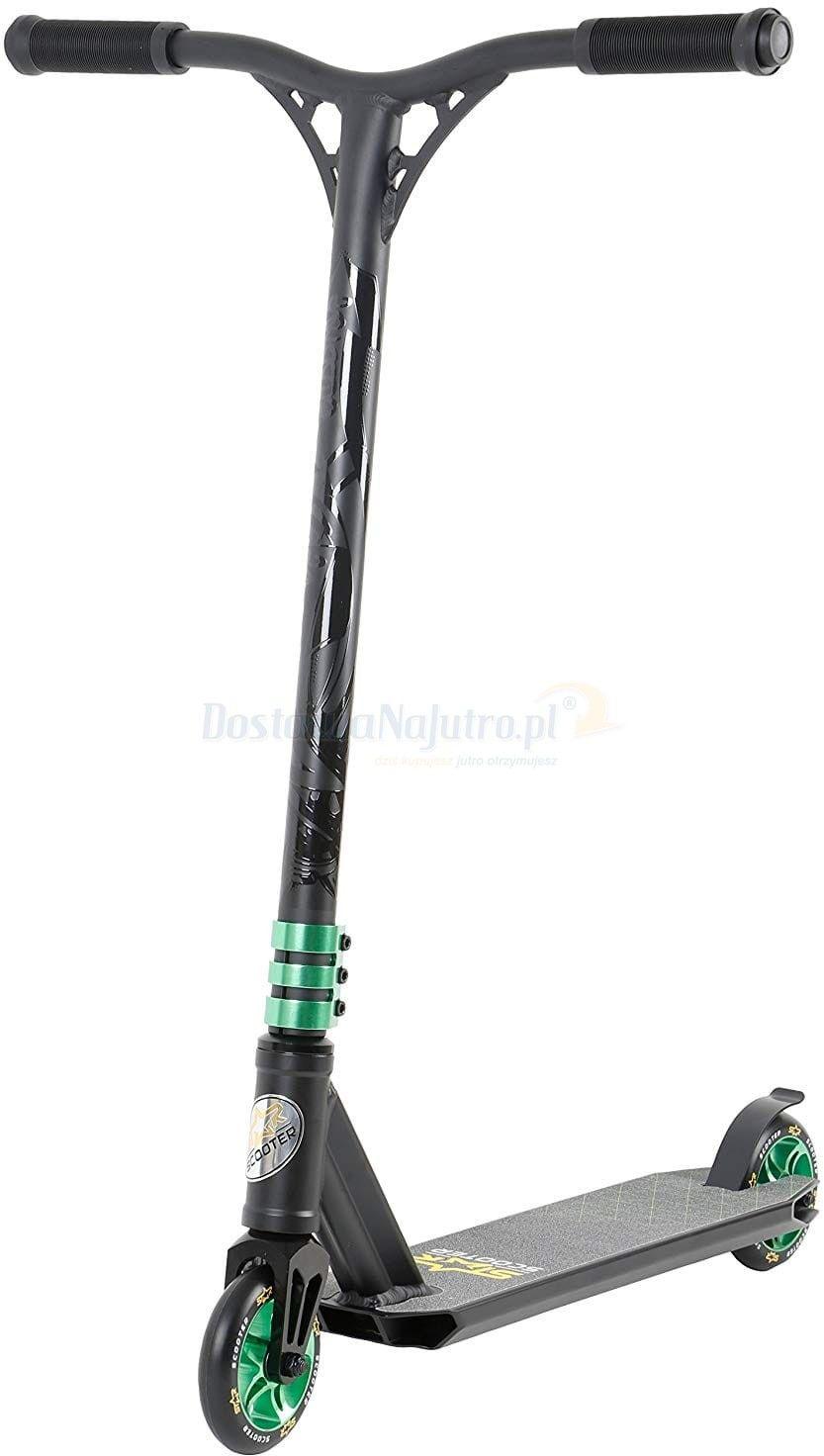 Hulajnoga wyczynowa BikeStar STUNT 110 czarno-zielona semi - professional