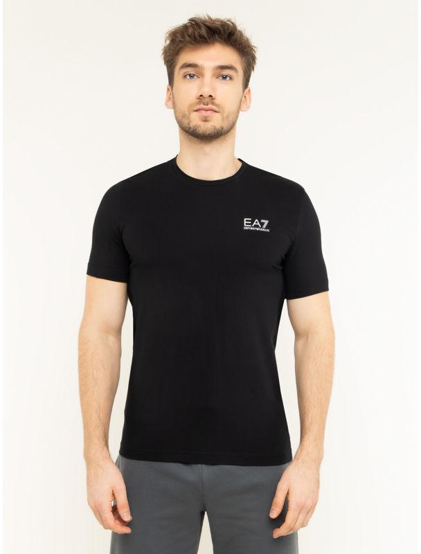 EA7 Emporio Armani T-Shirt 8NPT52 PJM5Z 1200 Czarny Regular Fit