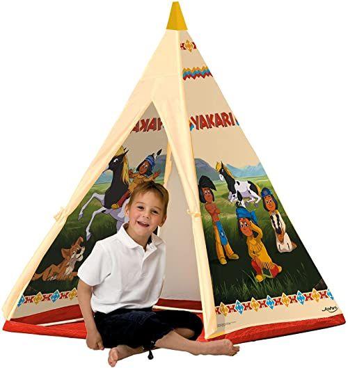 John 78607 - Yakari namiot tipi - namiot indiański, Wigwam, namiot do zabawy, namiot dla dzieci, domek do zabawy z nadrukowanym motywem dla dzieci