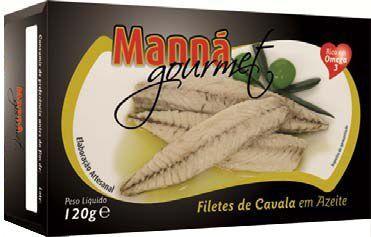 Portugalskie filety z makreli atlantyckiej w oliwie extra virgin 120g Manná GOURMET