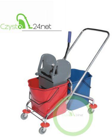 Wózek do sprzątania 2X 25l chromowany