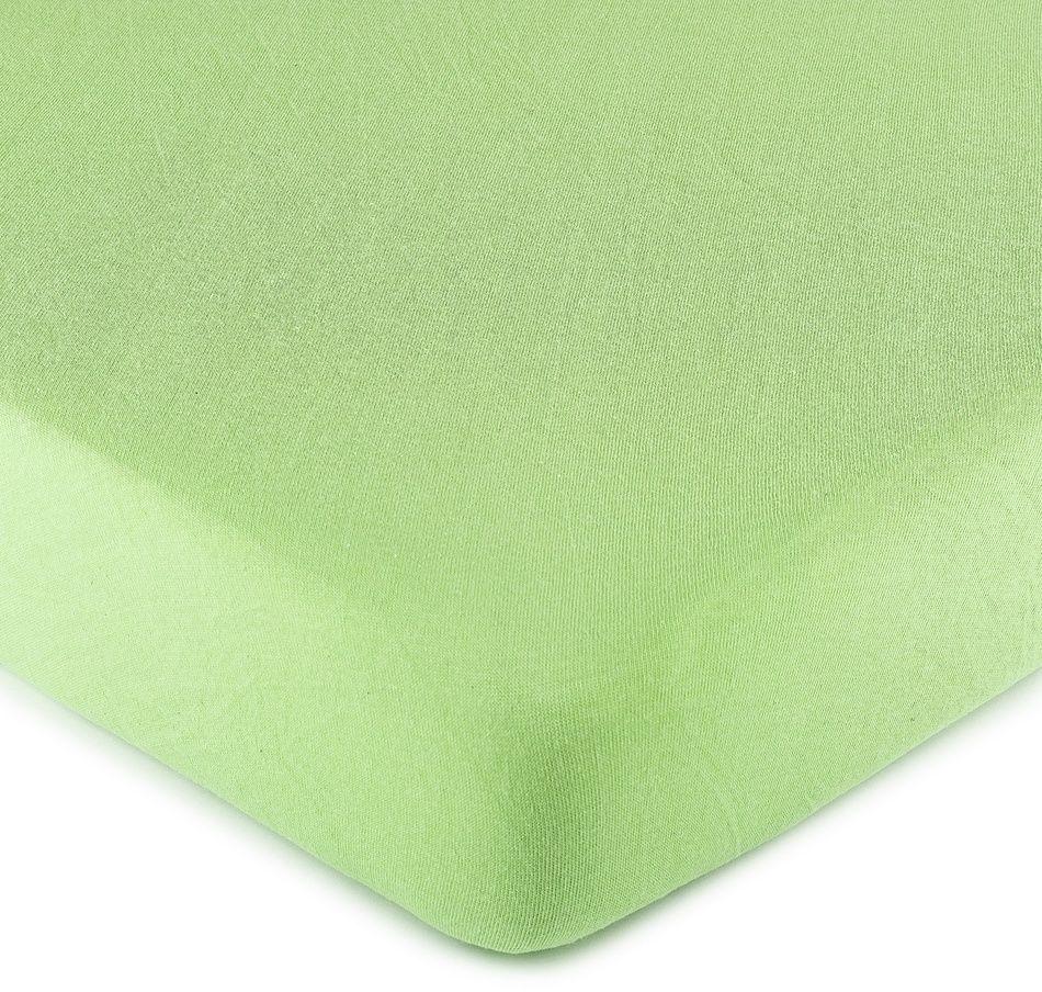 4Home prześcieradło jersey zielone, 90 x 200 cm, 90 x 200 cm