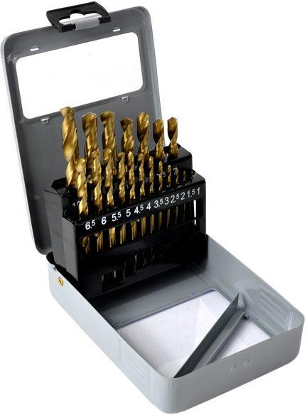 Zestaw wierteł do metalu 19szt 1-10mm