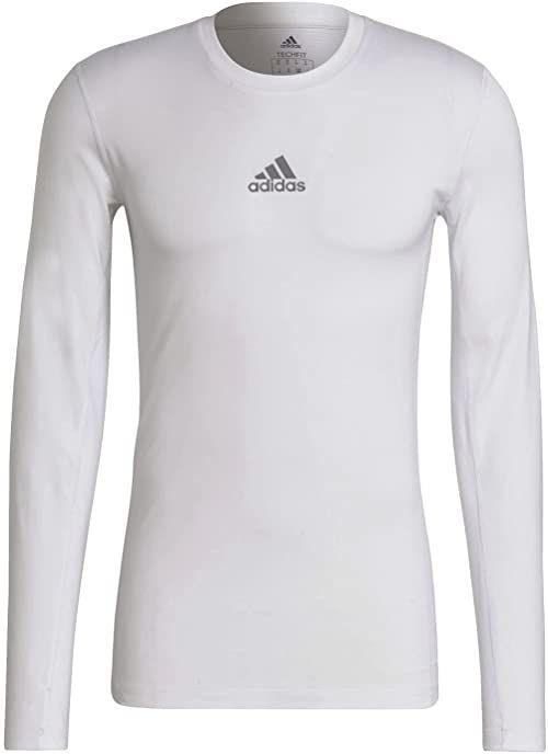 adidas Koszulka męska Techfit Compression Long Sleeve Tee biały biały L