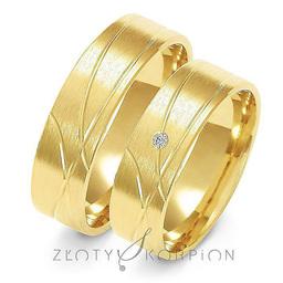 Obrączki ślubne Złoty Skorpion  wzór Au-A134