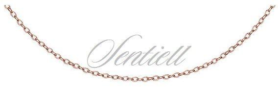 Łańcuszek srebrny pr.925 ankier zbijany, pozłacany - rożowe złoto - różowe złoto 1,0 mm