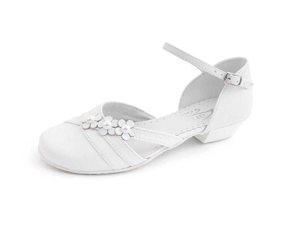 Komunijne buty dla dziewczynki 31-38 BK61 białe