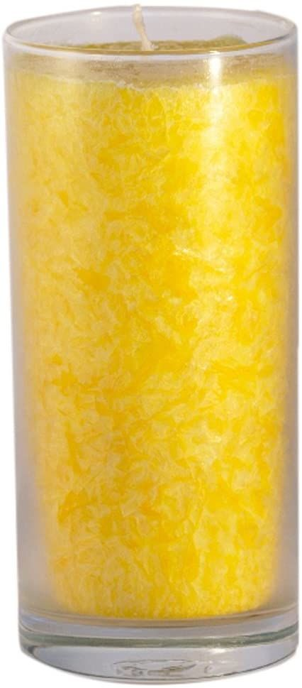 Palm Light Unikalna świeca, żółta