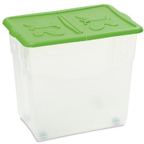 DEA HOME Pudełko do przechowywania COROLL/80-ART. 151-DEA HOME, 60x40x50, przezroczyste/zielone, 60 x 40 x 50 cm