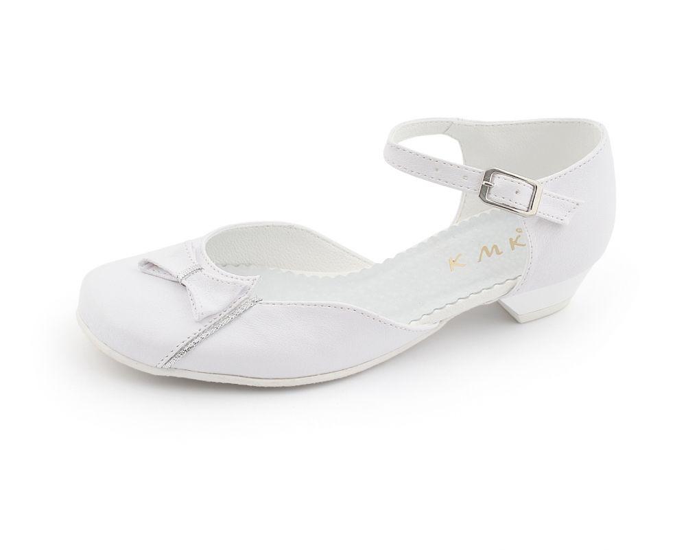 Okolicznościowe buty na obcasie 31-36 19/KMK białe