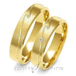 Obrączki ślubne Złoty Skorpion  wzór Au-A135