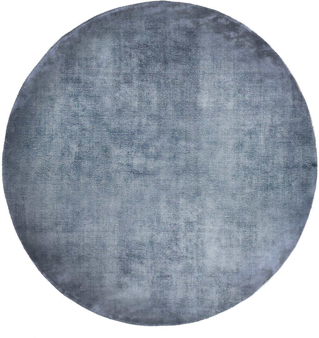 Dywan Carpet Decor Linen Dark Blue, okrągły
