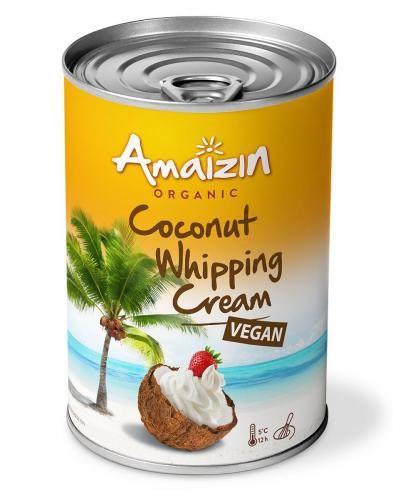 Krem kokosowy do ubijania BIO (puszka) 400 ml Amaizin