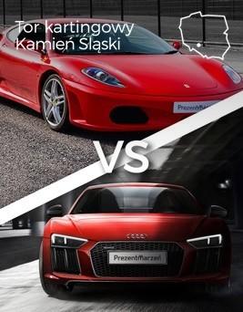 Jazda Ferrari F430 vs Audi R8  Tor kartingowy Kamień Śląski