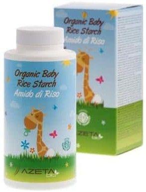 Organiczna skrobia ryżowa do kąpieli dla niemowląt 100g Azeta Bio