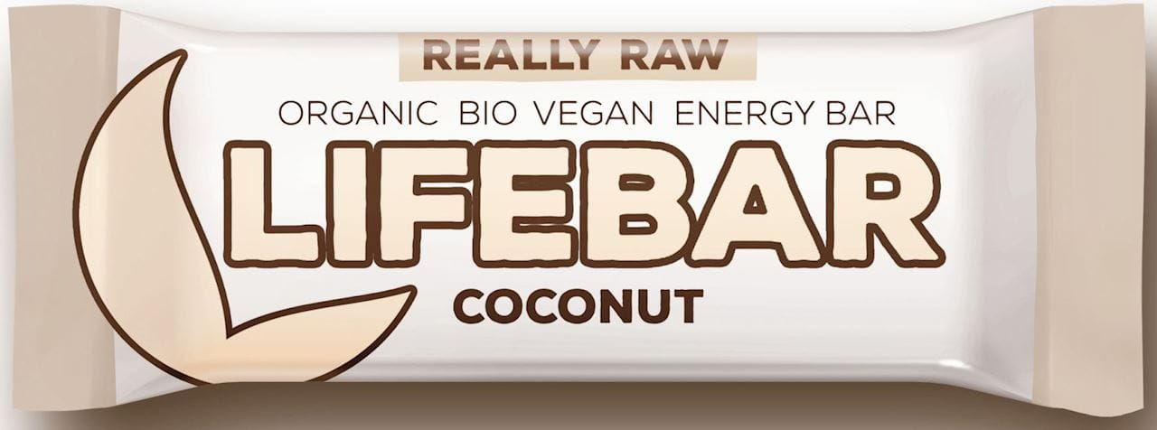 Baton kokosowy raw bezglutenowy bio 47 g - lifefood