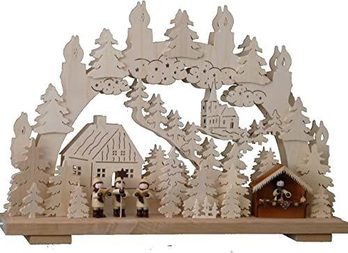 SchwibboLa 3-171 Erzgebirgischer podwójnie podświetlany świecznik łukowy z certyfikatem 3-171, 50 x 30 cm