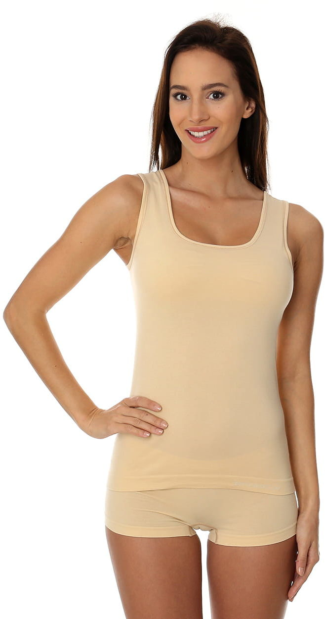 Bezrękawnik damski Brubeck Comfort Cotton TA00510 beżowy